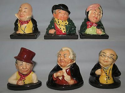 Royal Doulton set 6 early Dickens busts COMPLETE INSTANT COLLECTION