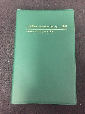 Collins Pocket. 2017/18Financial Year Diary 35M7 WTO GREEN Free Postage