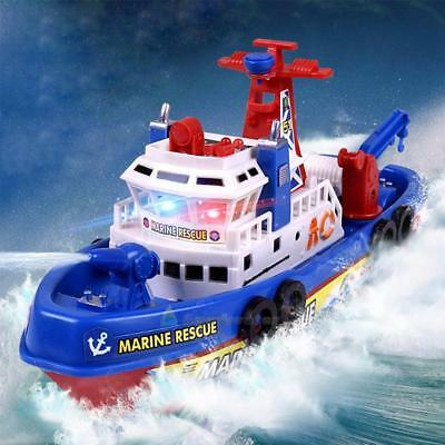 Marine Model Electric Fire Boat Sprinkler Water Rescue Spray Ship Flashing Toys