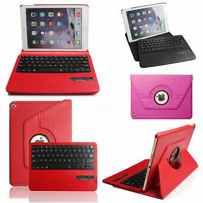 360 Rotate Magnetic PU Leather Case Wireless Keyboard Cover for iPad 4 3 2 Air 1