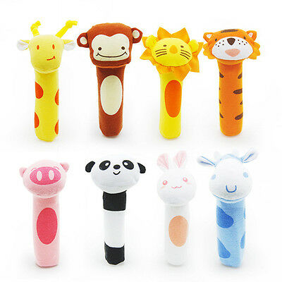 Newest Baby Rattle BIBI Bar Cute Animals Sound Toys Infant Hand Soft Plush Toys