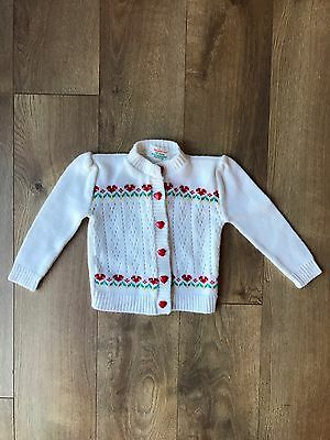 Vintage Health Tex Baby/toddler White Sweater Hearts Valentines Sz 18 Months