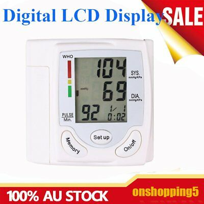 LCD Screen Digital Electronic Blood Pressure Monitor Upper Arm Free