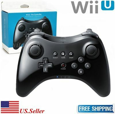 New Black High Quality U Pro Bluetooth Wireless Controller for Nintendo Wii U HM