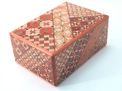 4 Steps Japanese Secret Yosegi Puzzle Box, Middle, Hakone Crafted from Japan