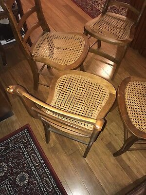 Antique hand - made Dining Room Chairs (4)
