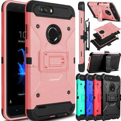 For ZTE Blade Z Max/Zmax Pro 2/Sequoia Phone Case Clip Holster Stand Armor Cover
