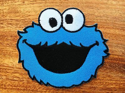 COOKIE MONSTER Patches Iron on Sew Embroidered Patch Fancy Dress