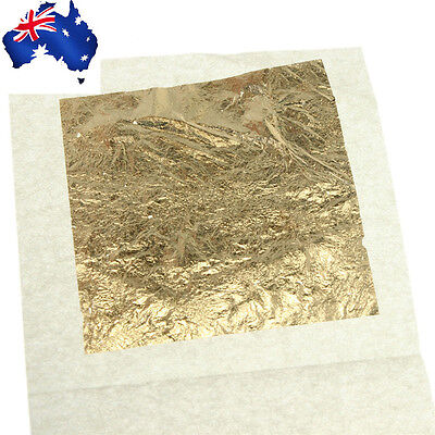 10xReal Gold Foil Leaf 99.99%Pure 24K Food Cake Decor Edible Face Beauty