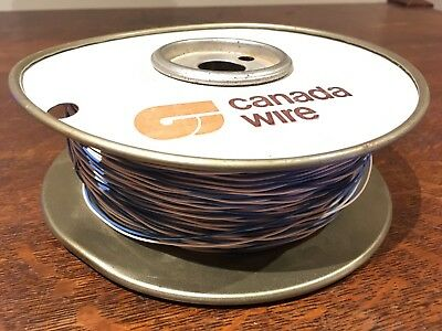 Wire 1 Pair #24 AWG Cu 215m/705' Canada Wire Solid Blue/White