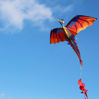 Classical 3D Flying Dragon Kite 140*120cm Line With Tail Outdoor Kids Play Toy