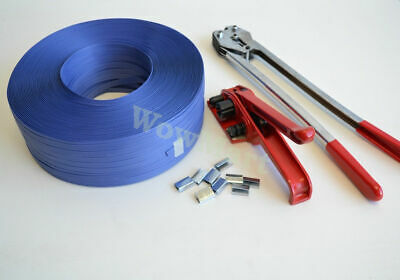 Brand New 4 in 1 PP Strapping (12mm x 1000m) Tensioner Sealer Set