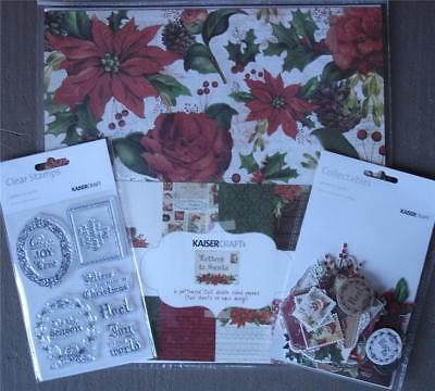 Bulk Kit ~ Letters To Santa ~ 12 Papers Stickers Stamps Die Cuts 12x12 Christmas