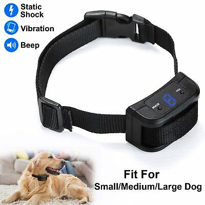 No Barking Electric Anti Bark Dog Training Shock Collar Vibrate Control Trainer