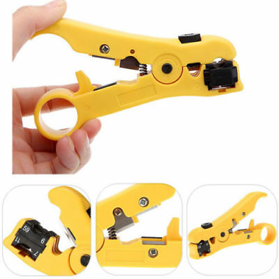 Rotary Coaxial Cable Wire Cutter Stripping Tool RG59 RG6 RG7 RG11 Stripper