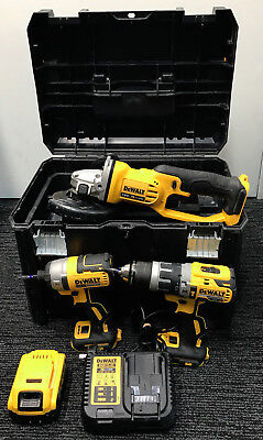 DeWalt Tool Chest 18V Cordless Combo Hammer Impact Cut-Off Battery Charger & Box