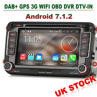 Android 7.1 GPS Sat Nav DVD CD Radio for VW Passat Golf Jetta Sharan Multivan T5