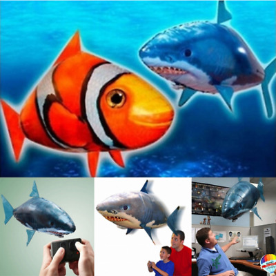 HOT Toy Remote Control RC Inflatable Balloon Air Swimmer Flying Nemo Shark Blimp
