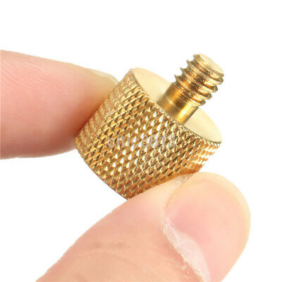3/8'' Female to 1/4'' Male Tripod Thread Reducer Adapter Brass Copper For Camera