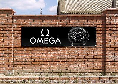 OMEGA WATCH LOGO PVC BANNER TILT - Garage - Zimmer - Room