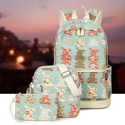 [Multi-Pocket] Premium Canvas Shoulder Backpack School Book Travel Laptop Bag