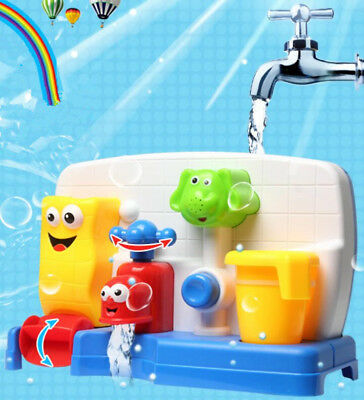 Baby Infant Newborn Bath Toys Water Faucet Taps Spout Spray Water Play Bathtub