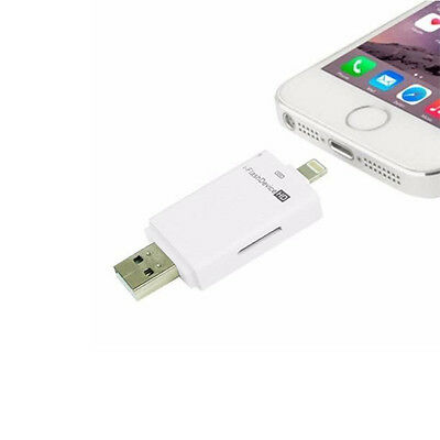 i-Flash USB Drive Micro SD TF Memory Card Reader Adapter For Android iPhone iPad