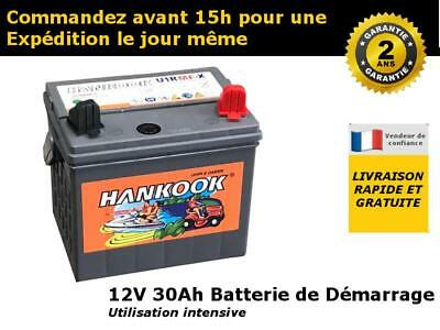 hankook 895 batterie de tracteur tondeuse 12v 30ah 24ah avec 2 ans de garantie eur 45 66. Black Bedroom Furniture Sets. Home Design Ideas