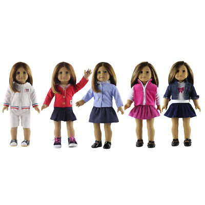 5Set Clothes for 18'' American Girl Our Generation Life Doll Dress MagiDeal