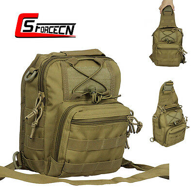 Low Profile Molle Tactical Shouder Bag Backpack Military Airsoft Pack Bag Tan