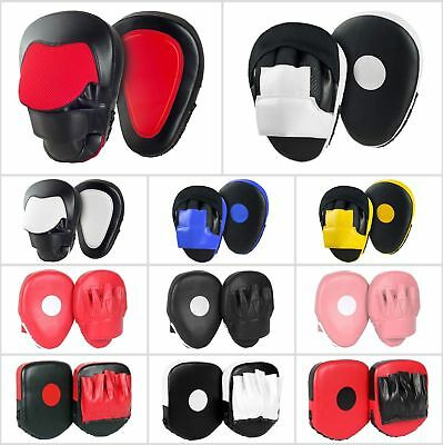Boxing Focus Pads Hook & Jabs Mitts Punching Pad Bag MMA Kick Fight Training