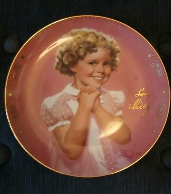 "Shirley Temple Signature Plate Pollection""Precious"""