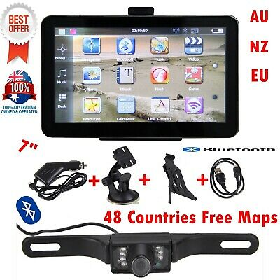 "7"" Car GPS Navigation 24GB Truck/Van AU+NZ+EU 3D maps +Reverse camera Bluetooth"