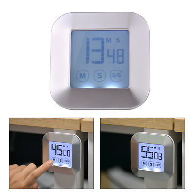 Large Touch Screen LCD Digital Kitchen Timer Count Down Up Clock Alarm HS1003