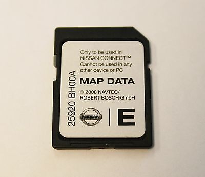 genuine nissan connect sat nav navigation sd card uk europe 2010 25920bh00b picclick uk. Black Bedroom Furniture Sets. Home Design Ideas