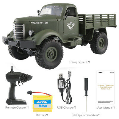 JJRC Q61 RC 1:16 2.4G Remote Control 4WD Tracked Off-Road Military Truck Car RTR