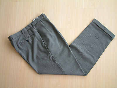 """1940's STYLE TROUSERS..36""""..DOGTOOTH..PLEATS..TURN UPS..PEGS..GOODWOOD..SWING"""