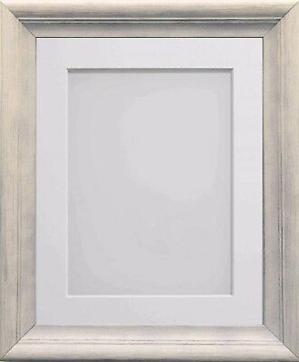 Frame Company Huntley Range Ivory Pine Wooden Picture Photo Frames with Mount