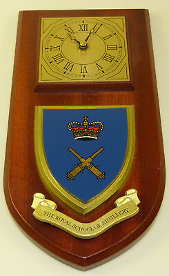 Royal School Of Artillery Classic Hand Made To Order Wall Clock