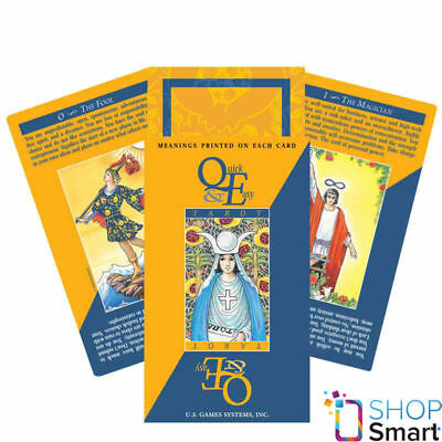 Quick & Easy Tarot Deck Cards With Printed Meaning Esoteric Telling New