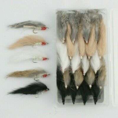 X4 Minkies Streamers Size10 L/S, Choose From 3 Colours, Trout Fly Fishing Flies.