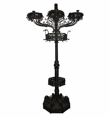 Antique Hand-Wrought Iron Lamp Post & Coat Rack, Downtown Nashville Hotel, NMI12
