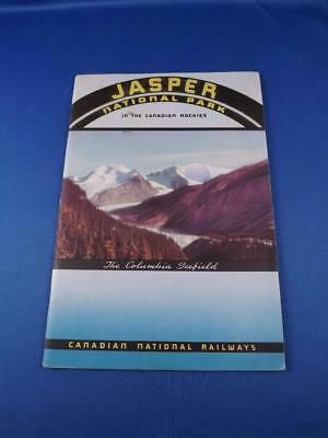 Jasper National Park In Rockies Book Canadian National Railways Fold Out Map