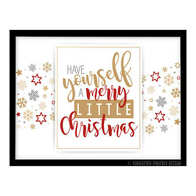 FP1182 Christmas Gift Decoration Word Art Typography Print Poster