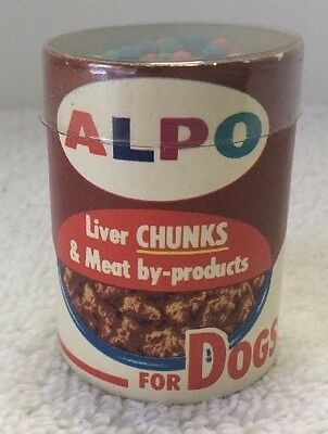 RARE Mini Vintage Alpo Dog Food Can w/ Matches Liver / Chicken NOS Advertising