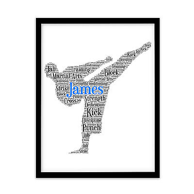 FP1519 Personalised Martial Arts Kickboxing Taekwondo Gift Keepsake