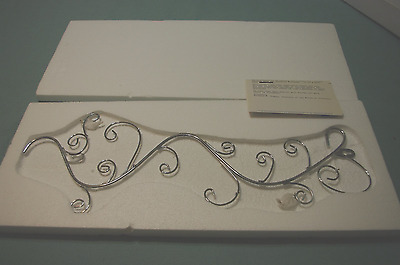 New In Box Silver  Plate Wall  Hanger  By Bradford Exchange For  Plates