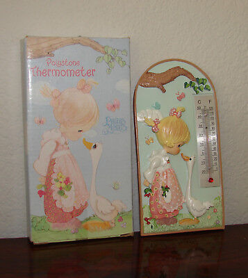 Vintage 2002 PRECIOUS MOMENTS Thermometer ❤ Little Girl w/ Duck ❤ Kids Room NEW