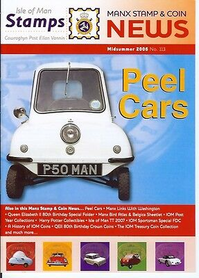 Isle of Man Stamps Peel Cars magazine Manx Stamp & Coin Microcar 2006 113 A5