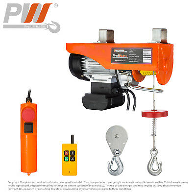 PROWINCH 220 lbs / 440 lbs Electric Rope Hoist 110V 120V Wireless Remote Control